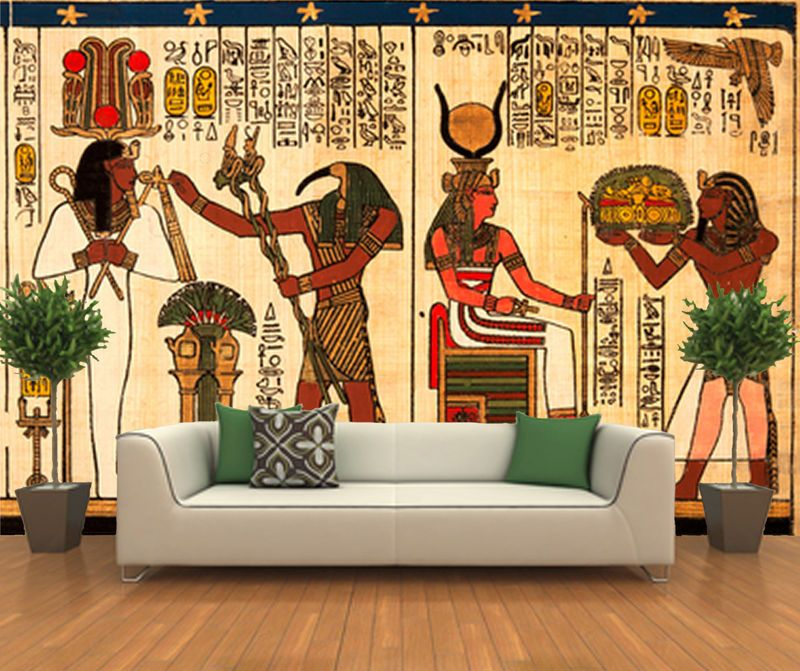Self Adhesive Egyptian Decorating Wall Mural Art-202-Free delivery ...