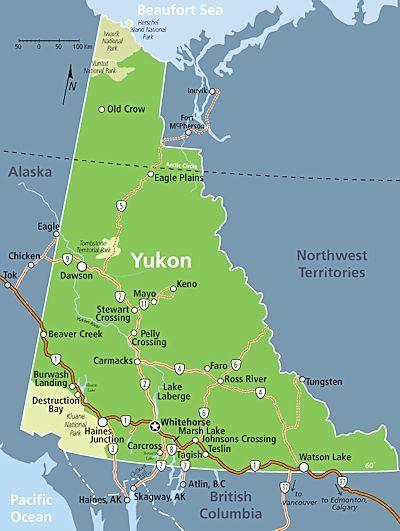 Yukon Map Travel Yukon Canada Yukon Map Yukon River