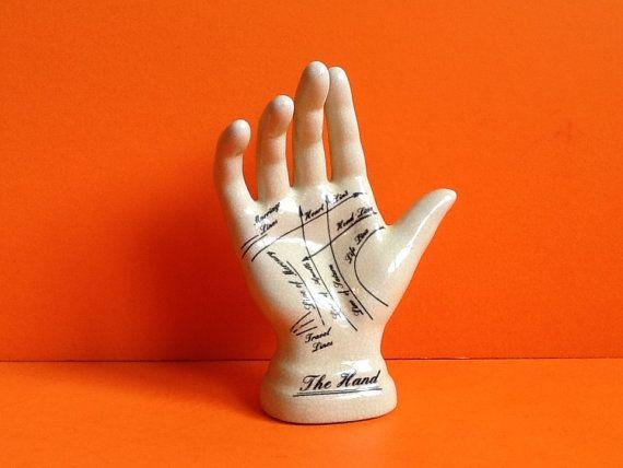 Ceramic hand jewelry holder ring holder palmistry hand reader hand reading