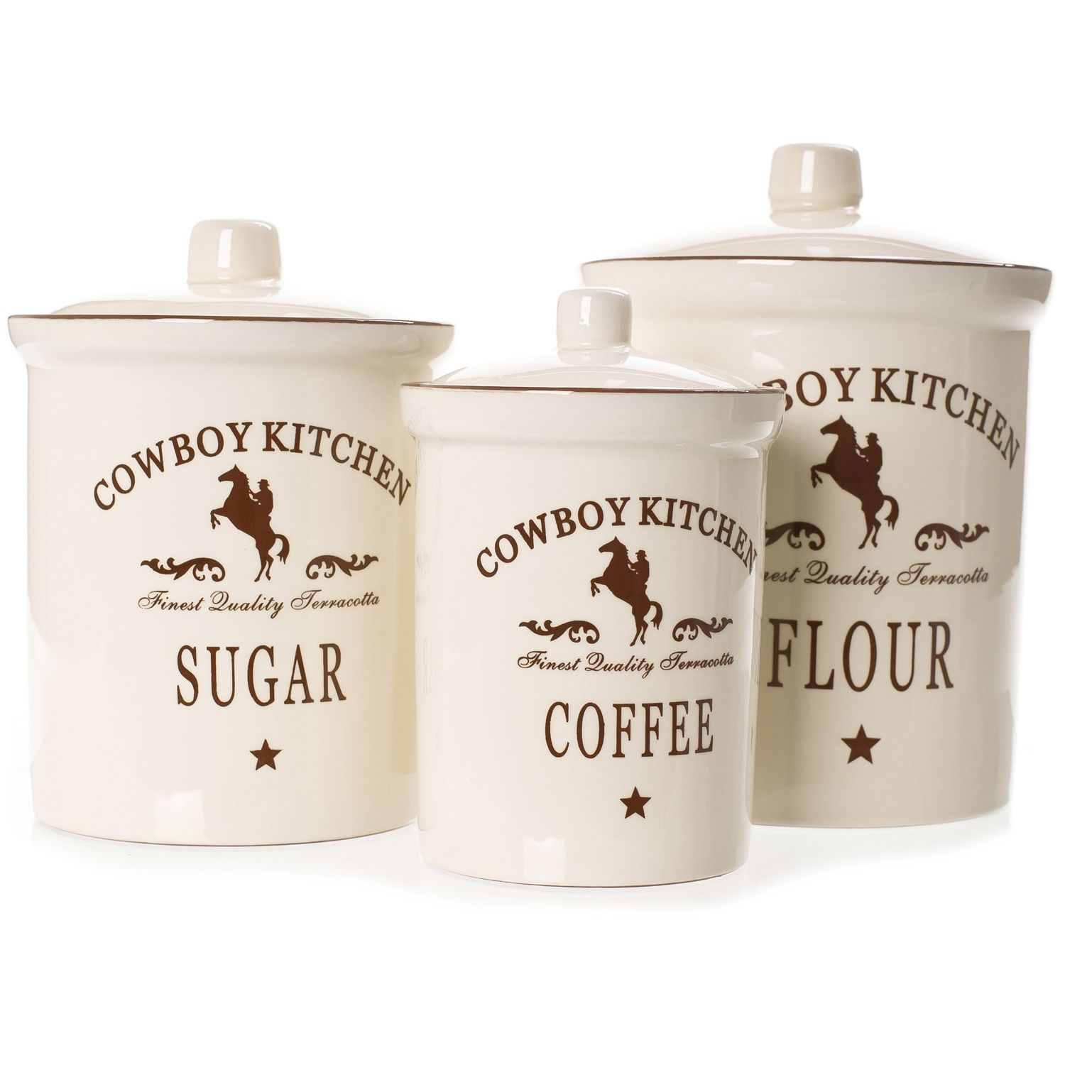 Cowboy Kitchen Canister Sets| | For my Home | Pinterest | Kitchen ...