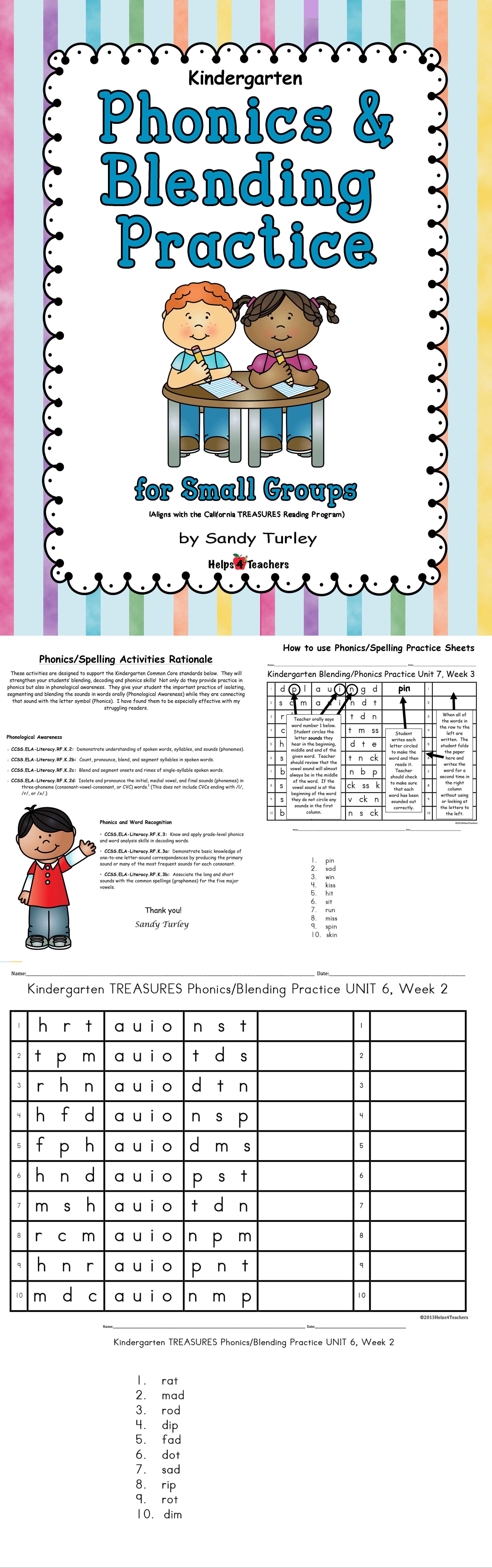 Kindergarten Phonics Blending Practice For Small Groups