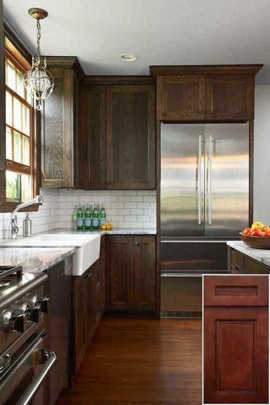 Top trends on - stain honey oak cabinets darker. | Stained ...