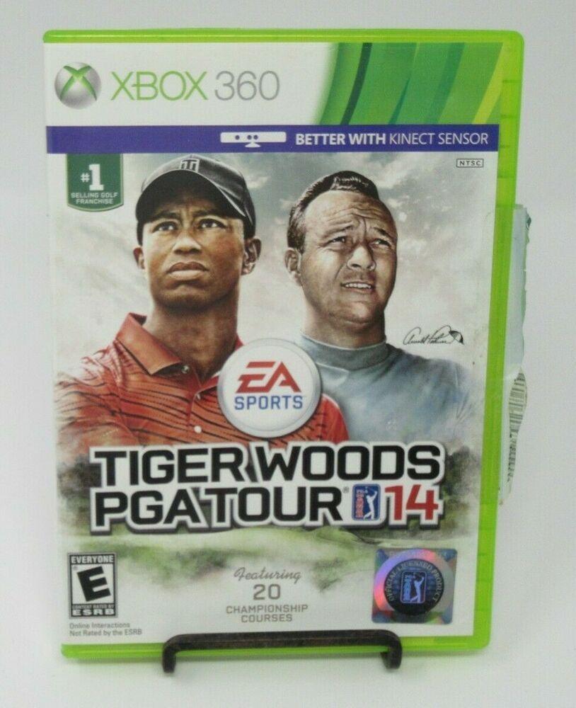 TIGER WOODS PGA TOUR 14 GAME F/ MICROSOFT XBOX 360, CASE