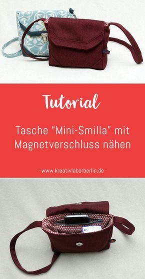 """Photo of Tutorial: Tasche """"Mini-Smilla"""" mit Magnetverschluss nähen – Kreativlabor Berlin"""