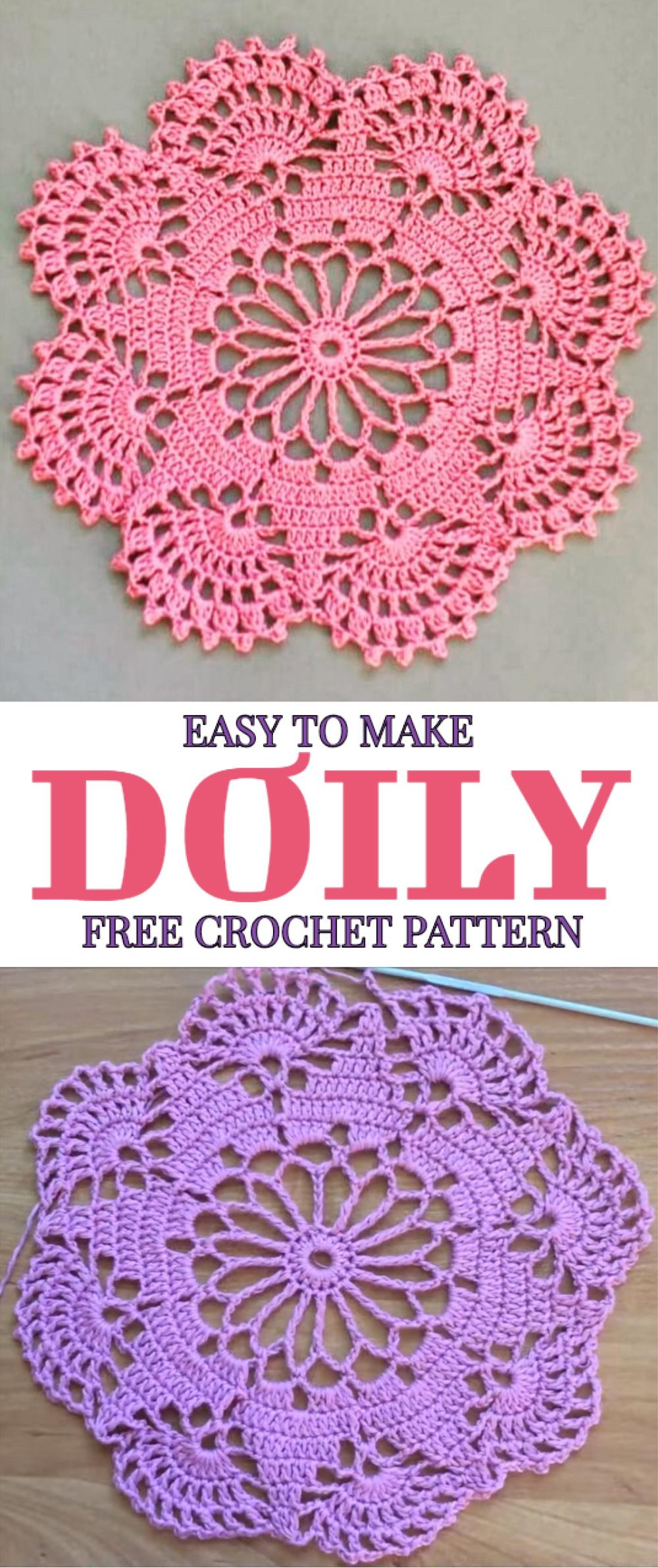 Easy To Make Doily Free Crochet Pattern #crochethooks