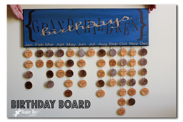 Great way to remember birthdays!