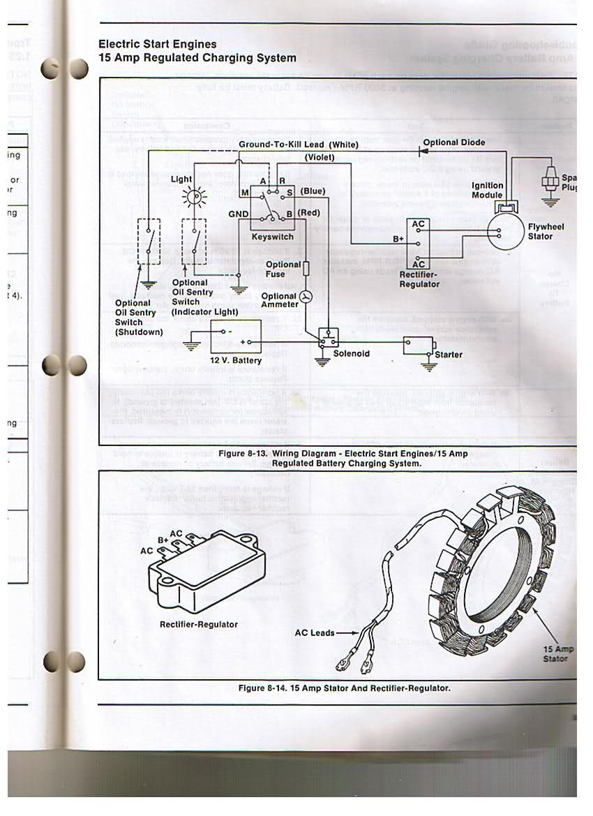 medium resolution of kohler engine electrical diagram re voltage regulator rectifier oliver tractor battery wiring diagram
