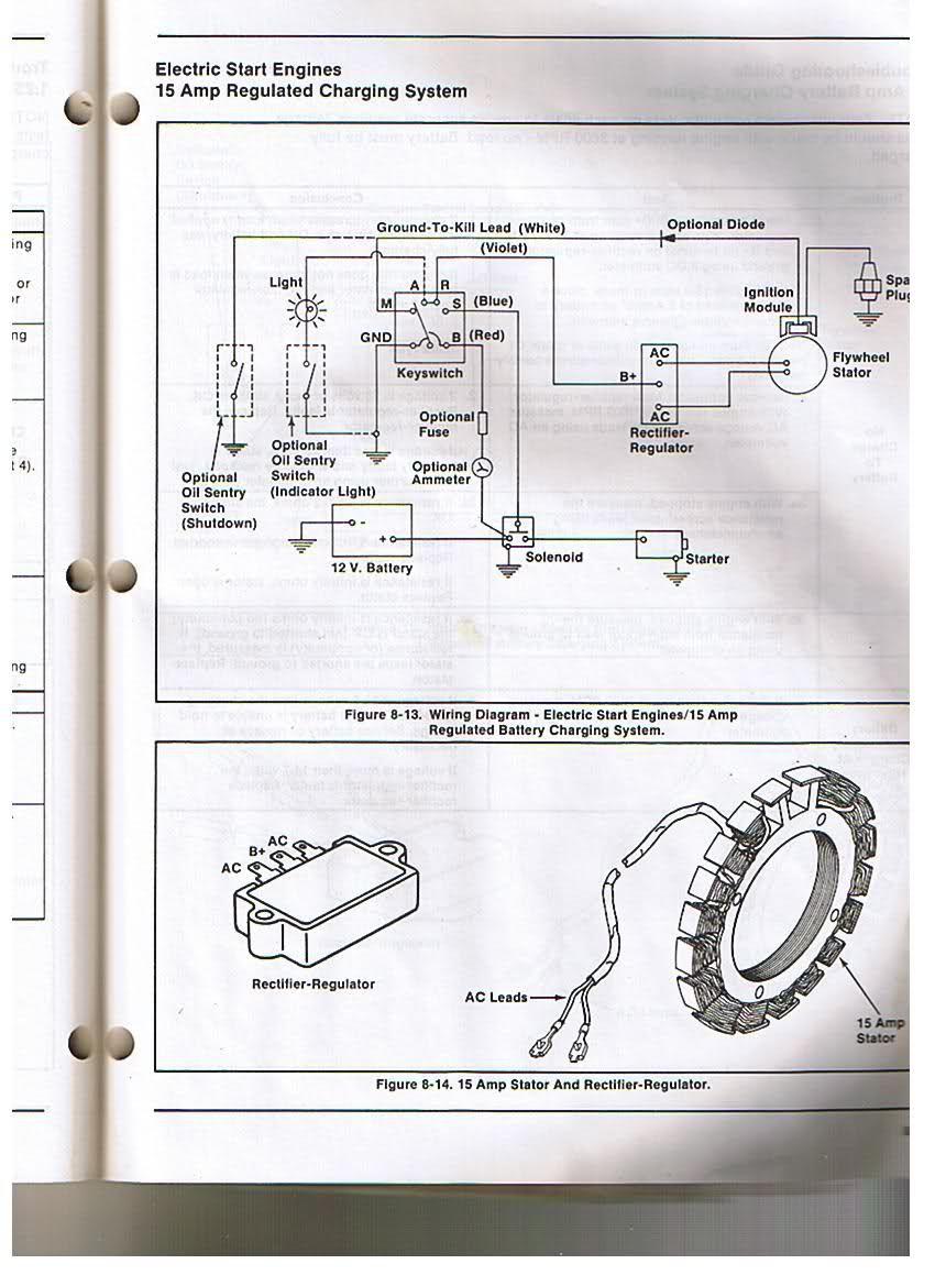Voltage Regulator Rectifier Kohler Yesterday S Tractors Electrical Diagram Kohler Engines Engineering