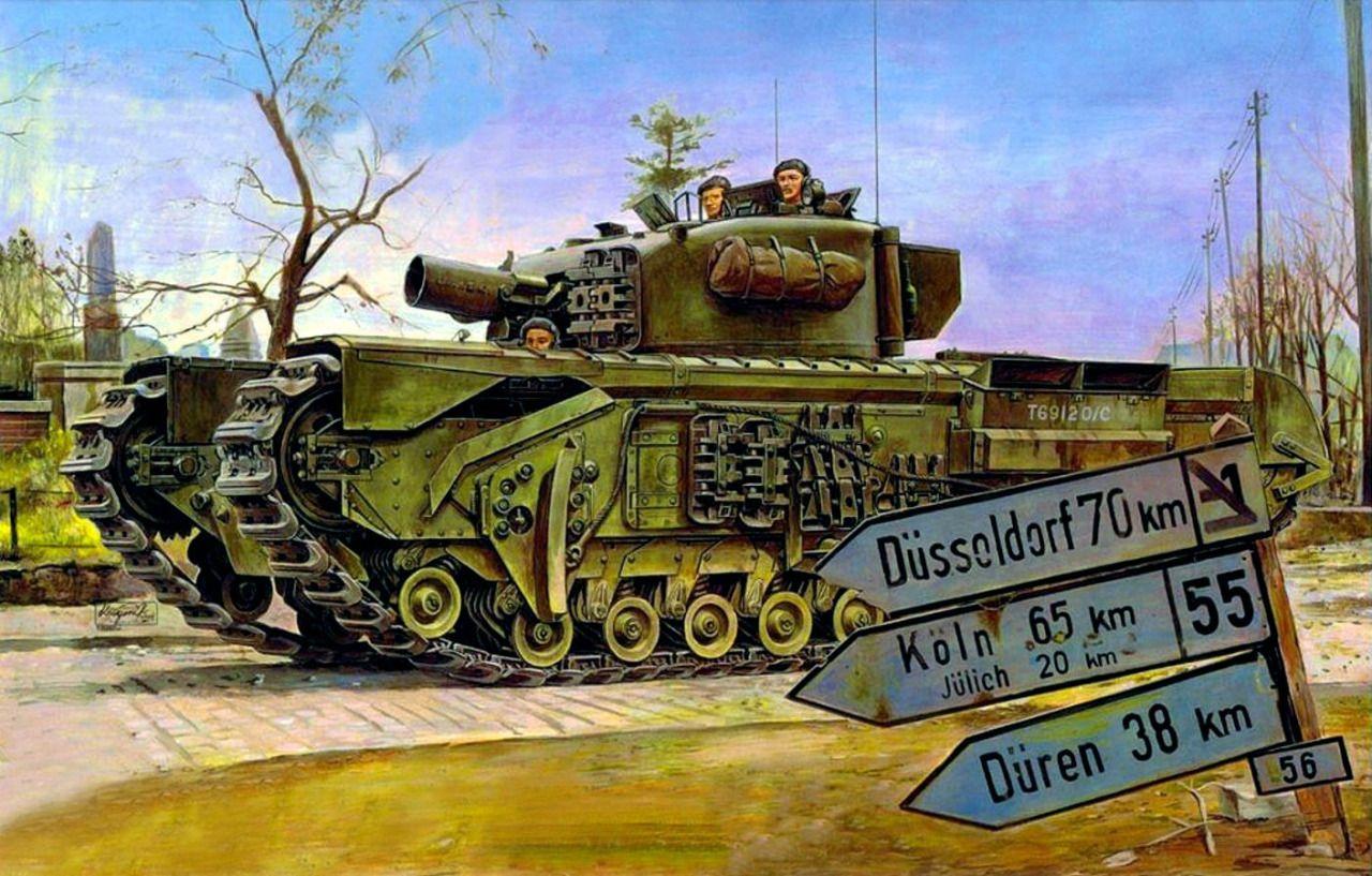 1945 Churchill Mk.IV A.V.R.E. - box art AFV club