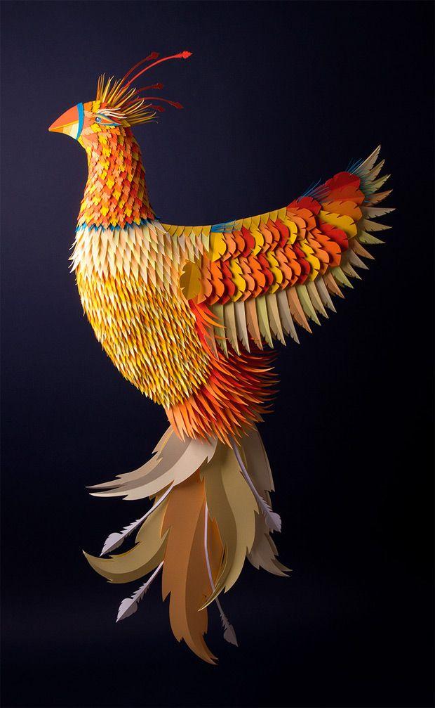 Las increíbles y coloridas esculturas de papel de Zim & Zou | TodoGraphicDesign