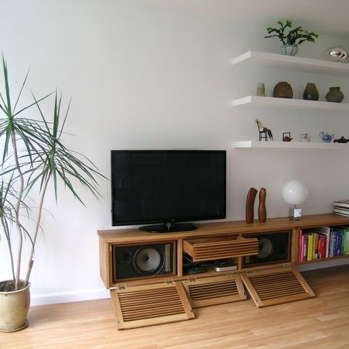 Floating Media Cabinet Home Design Ideas, Pictures, Remodel and