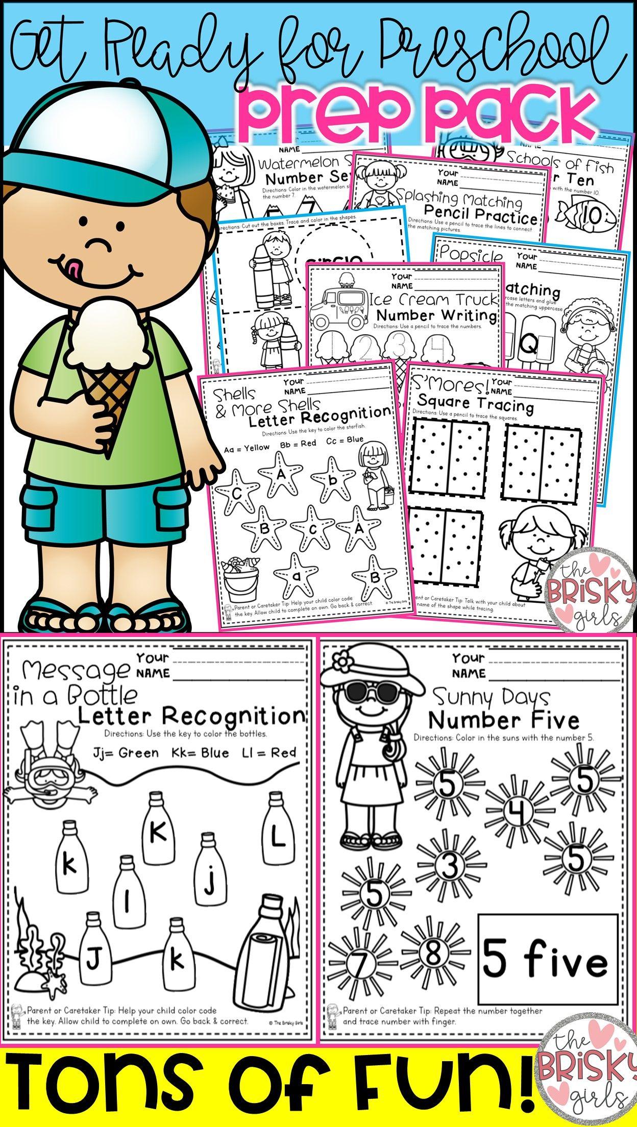 Preschool Summer Packet Prek Summer Packet Take Home