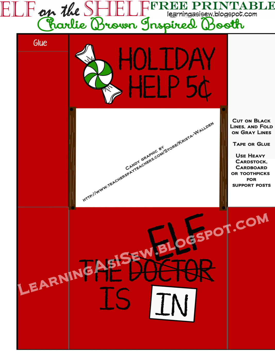 Elf On The Shelf Holiday Help Booth Inspired By Charlie