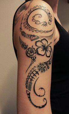 Tatuajes Maories Pequeños polynesian tribal tattoo on upper arm | tattoo | pinterest