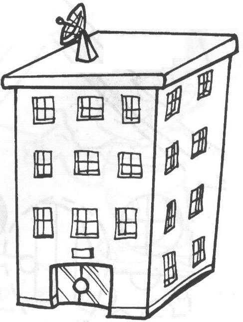Edificios con apartamentos para colorear - Imagui Edificio Para Colorear