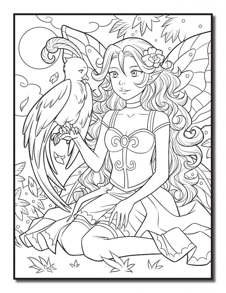 Pin by Dianna Dupont on Coloring   Fairy coloring pages ...