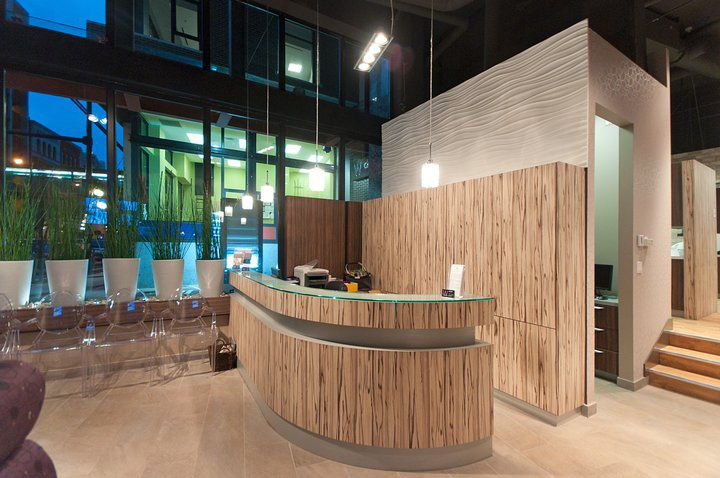 W dental by janks design group inc vancouver store for Office design group inc