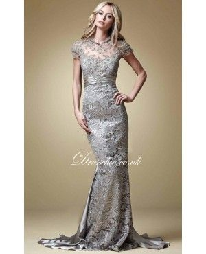 silver-grey-lace-sheath-long-evening-gown-with-cap-sleeves.jpg ...
