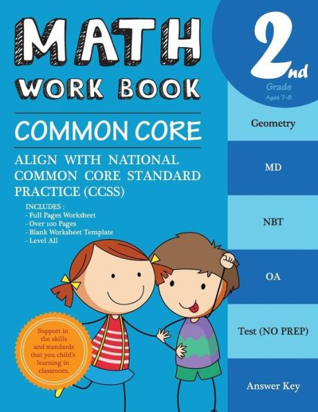 2nd Grade Math Workbook Common Core Math: Math Workbook Grade 2