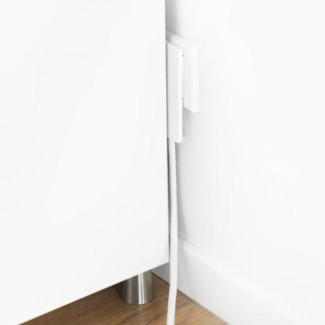 Flache Steckdosenleiste - Weiß - alt_image_two Wohnzimmer - arbeitsplatz drucker wohnzimmer verstecken
