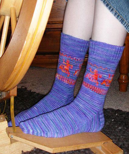 Fun and simple fair isle sock | Knitting Patterns | Pinterest ...