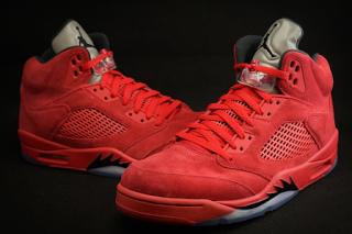 7f1c0ccb3072e Amazon Product Detail: Red Suede Air Jordan 5 Retro University Shoe ...