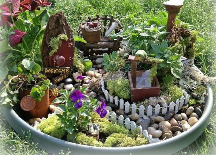 elegant miniaturas ideas de jardines en miniatura mgicos with jardines miniatura - Jardines En Miniatura