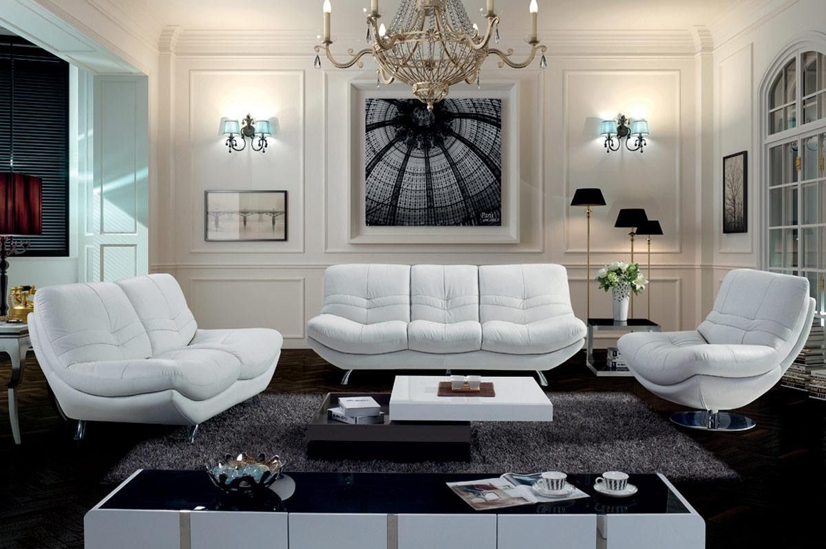 Divani casa modern leather sofa set leather sofa set sofa
