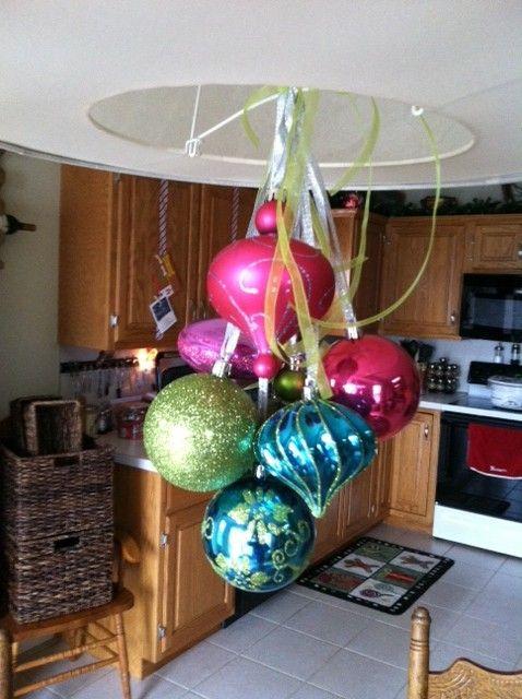 Christmas Ball Chandelier   Christmas bulbs, Christmas ...
