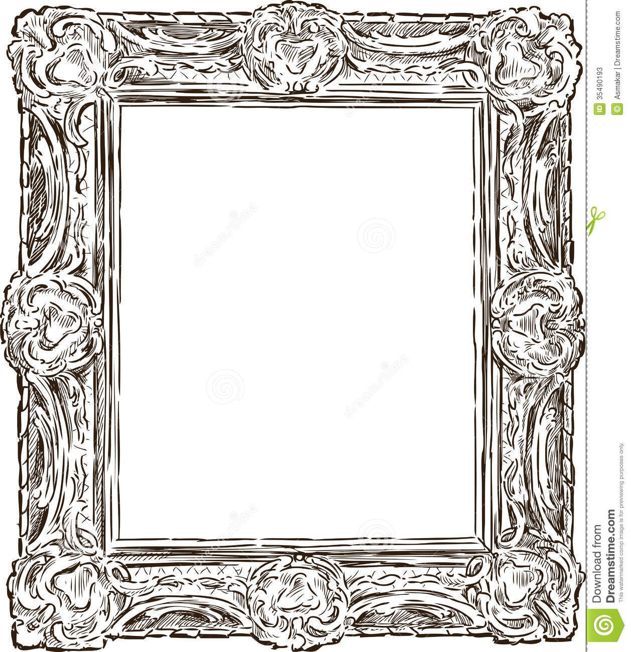 ornate frame drawing - Google Search | Chronicles of ...
