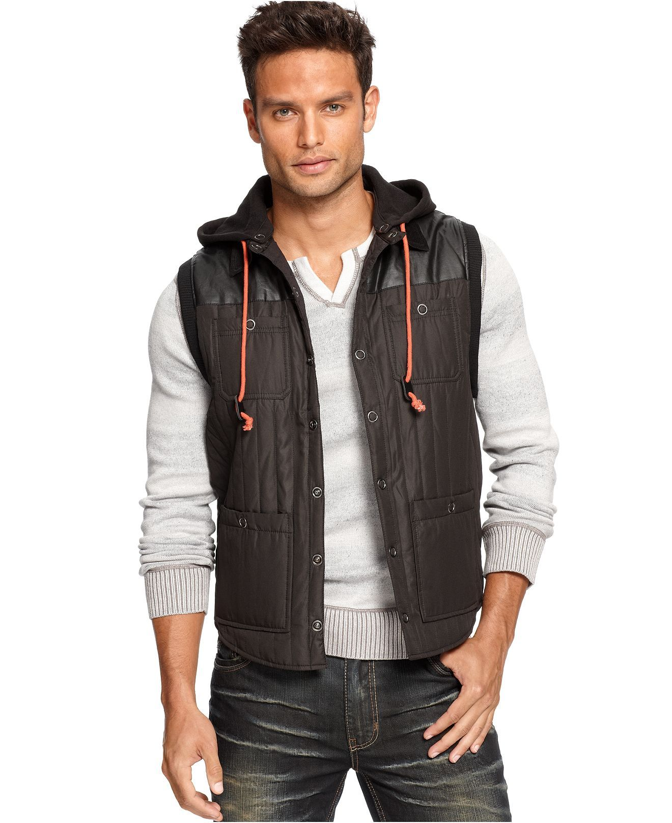 INC International Concepts Vest, Mendel Quilted Vest - Mens Coats ... : quilted vests for men - Adamdwight.com