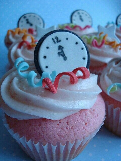 Cupcakes Ano Nuevo Navidad Pinterest Anos Nuevos Cupcakes Y