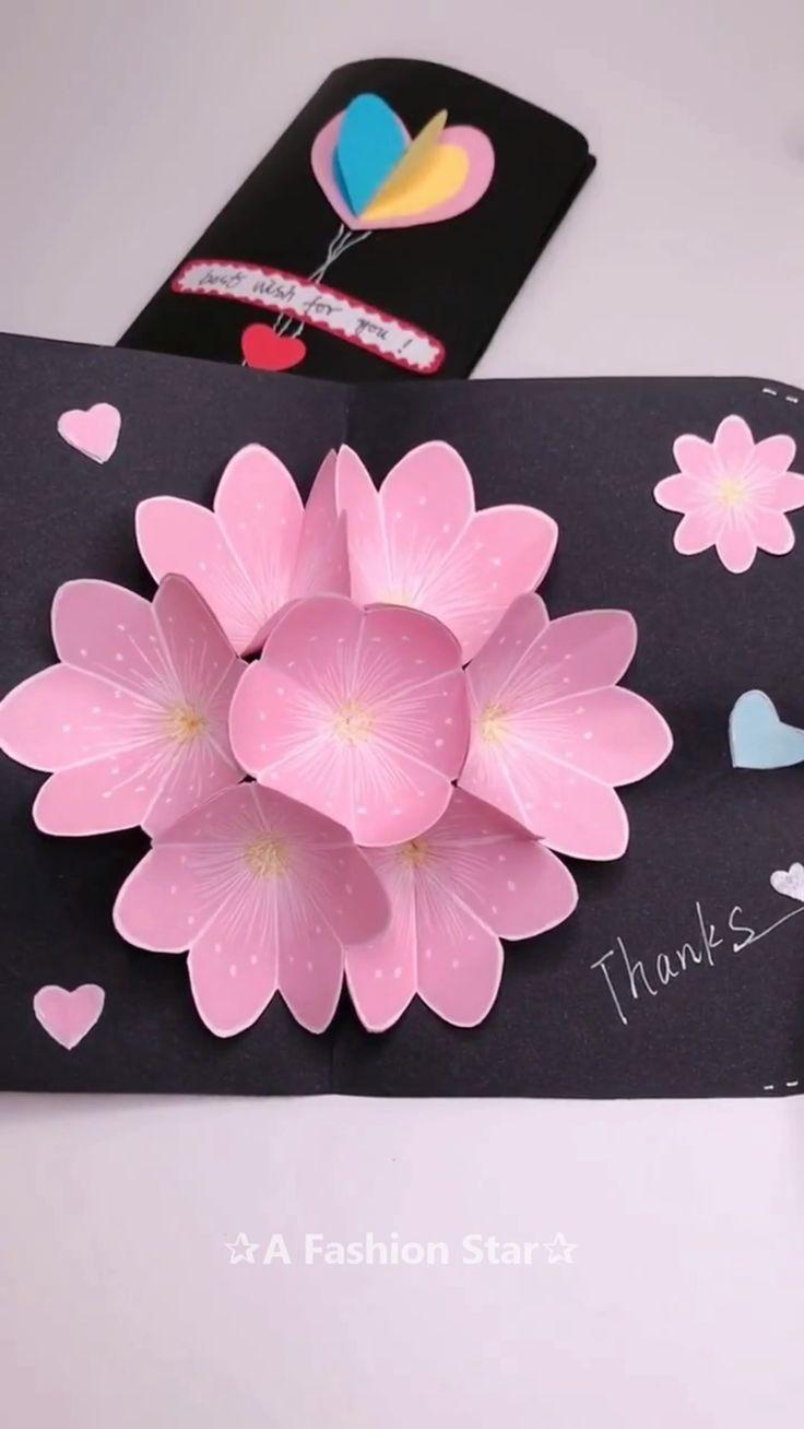 3D Flower Greeting Card Making Idea – Latest Greeting Card Design - DIY - #Design #flower #greeting #latest #making - #hairstyleDIY