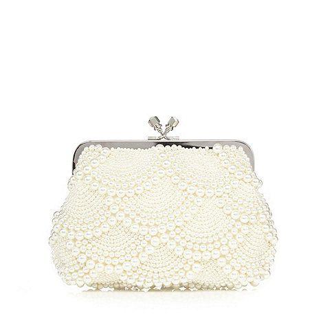 1 Jenny Packham Cream Scallop Pearl Clutch Bag Debenhams