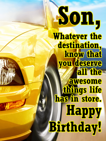 Hit The Road Happy Birthday Card For Son Your Son Is Sure To Get
