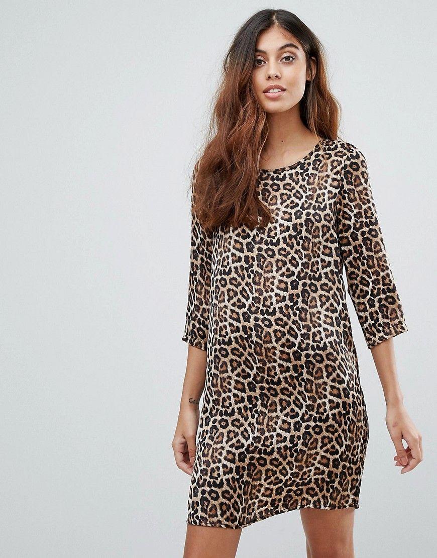 ebece781e6b5 Vero Moda Leopard Print Shift Dress - Multi | Moda feminina ...