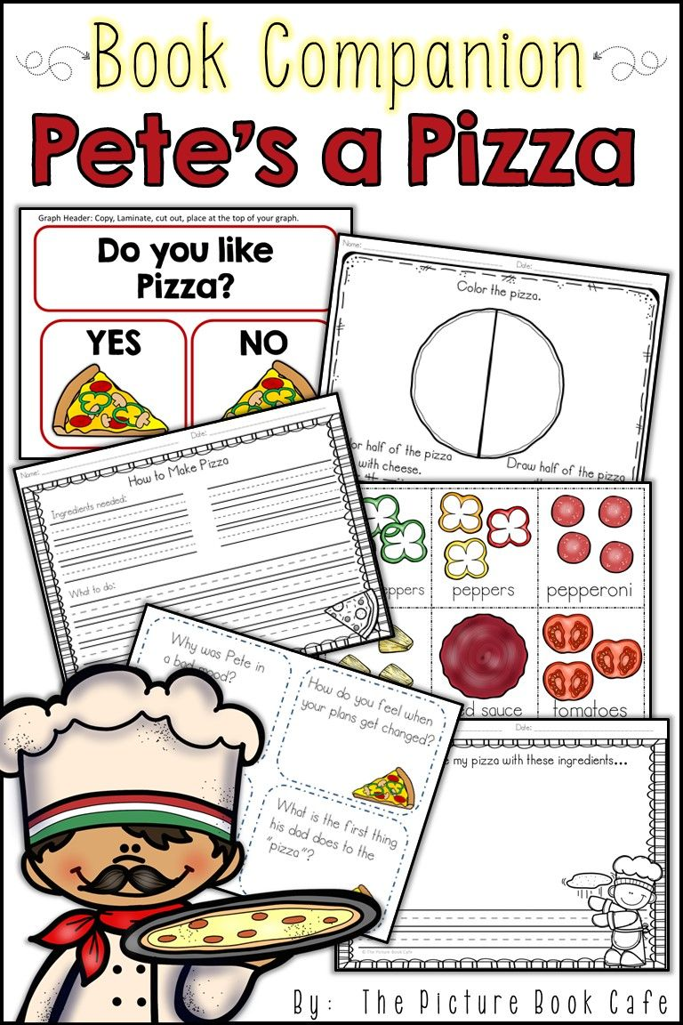 Pete S A Pizza Picture Book Pete Is Upset Because He Wanted To Play With His Friends And It Is Raining Pete S Parents Devise A Book Companion Books Book Cafe [ 1152 x 768 Pixel ]