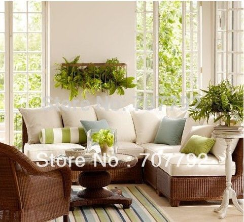 2017 All Weather Outdoor Furniture Rattan Victorian Sectional Sofa