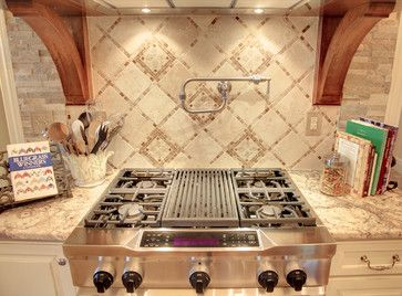 Kitchen Backsplash Ideas Natural Stone | Simple Stone Backsplash Kitchen - traditional - kitchen - cleveland ...