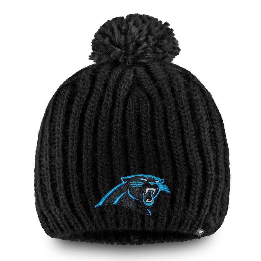 67466e9cf Baseball Cap ·   Women s Carolina Panthers NFL Pro Line by Fanatics Branded  Black Iconic Ace Knit Hat With