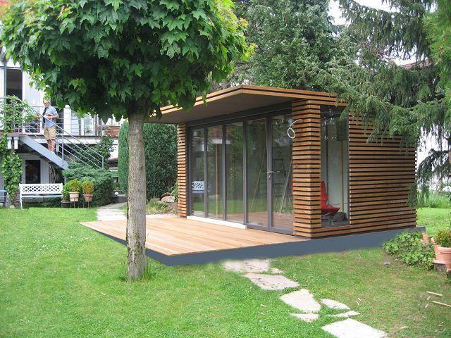 fmh: gerätehäuser/ design gartenhäuser, fmh metallbau und holzbau ... - Moderne Gartenhuser Zum Wohnen
