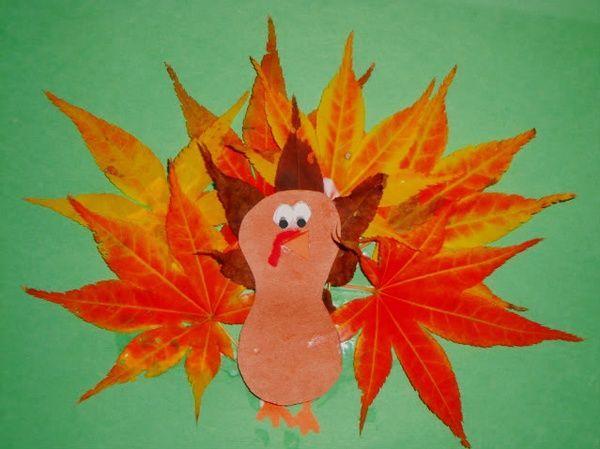 leaf turkey preschool