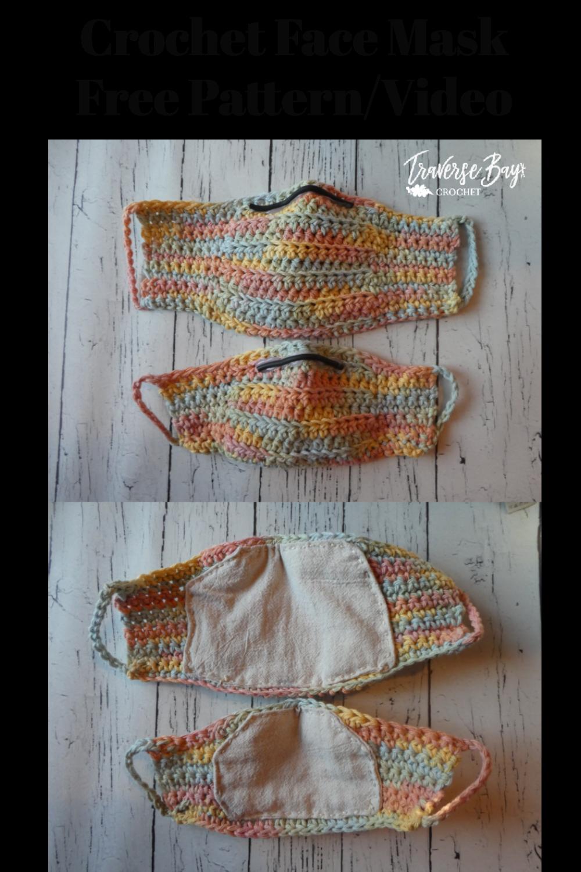 Photo of DIY crochet face mask free pattern