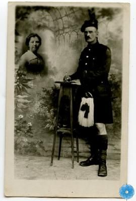 Postcard, The Army Museum. Private E.Reynolds of the 85th Battalion