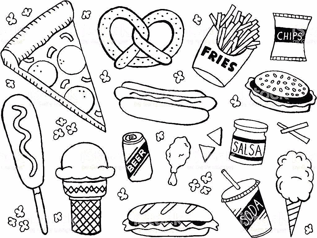 Junk Food Doodles Royalty Free Stock Vector Art In 2020 Doodle Pages Doodles Sketch Book