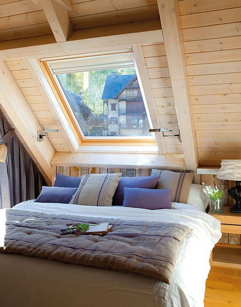 Attic Bedroom Interior Design Small Cottage Sweet Life 08