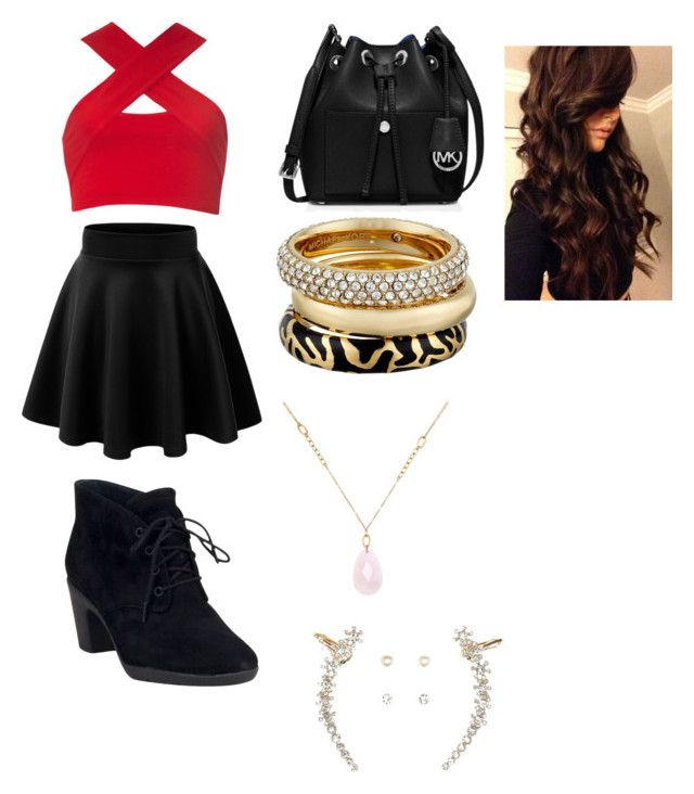 """Hip-Hop Ballerina"" by juliadonda ❤ liked on Polyvore featuring Motel, Clarks, MICHAEL Michael Kors, Michael Kors, White House Black Market, Charlotte Russe and Marvel Comics"