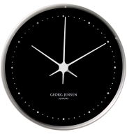 Koppel 10 Cm Wall Clock Stainless Steel With Black Dial Wall Clock Clock Black Clocks