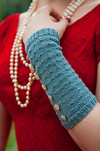 99c73e3bff07d Ravelry  Fleur Arm Warmers free pattern by Jemima Bicknell ...