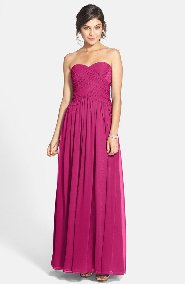 JS Boutique fuchsia bridesmaid dress, from nordstrom.com - see more ...